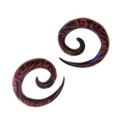 Piercing organico spirale tatuaggio sanguinante | 4 mm, 6mm, 8mm, 10mm, 12mm