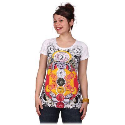 T-shirt da donna con maniche corte Mirror Chakras White | S, M, L, XL