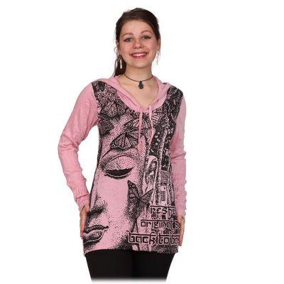 T-shirt con cappuccio da donna Sure Buddha's Butterflies Pink | M, L