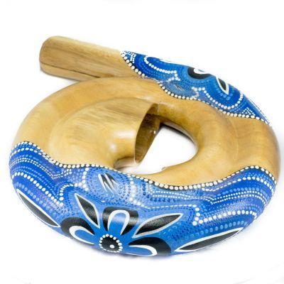 Didgeridoo a spirale - blu