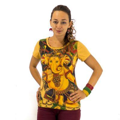 T-shirt da donna Ganapati Gialla