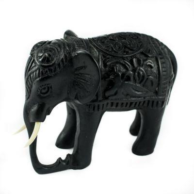 Statuetta in resina Elefante - decorata