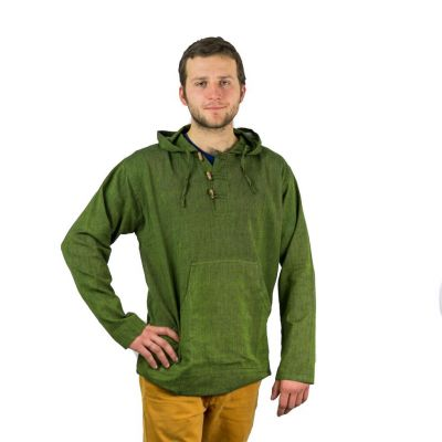 Kurta Ganet Hijau - camicia a maniche lunghe da uomo   S, M, L, XL, XXL, Giacca S, Giacca M, Giacca L, Giacca XL, Giacca XXL