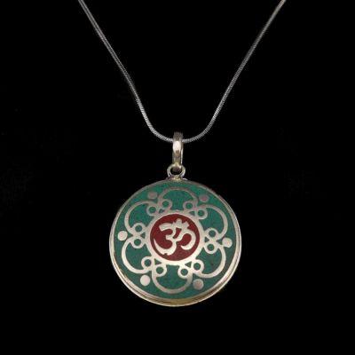 Ciondolo in argento tedesco Sillaba sacra | pendente separato, con una catena - circonferenza 45 cm, con una catena - circonferenza 55 cm