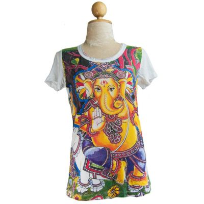 T-shirt da donna Ganapati Bianca
