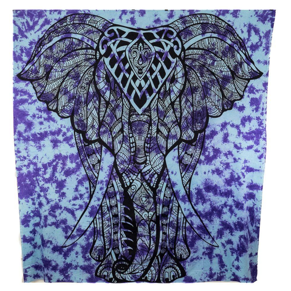 Copriletto in cotone Big Elephant - viola India