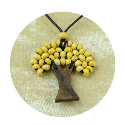 Albero a sospensione in legno - beige | piccolo