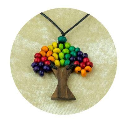 Albero a sospensione in legno - multicolore | grande