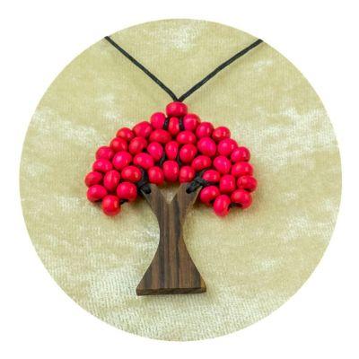 Albero a sospensione in legno - rosa | piccolo