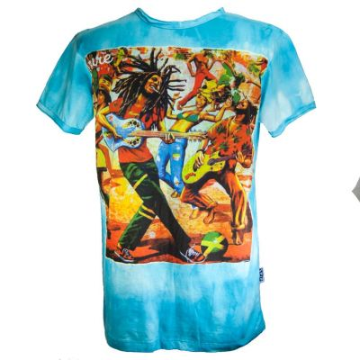 Maglietta Bob Marley Turchese