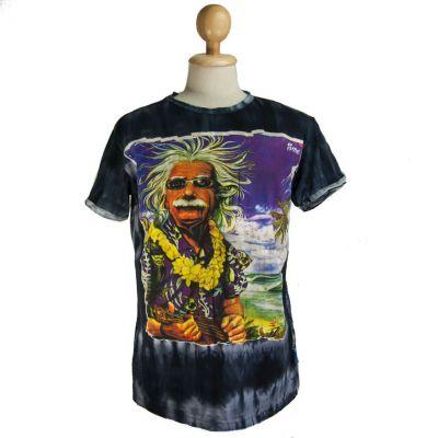 T-shirt Einstein in vacanza Nera