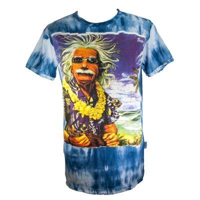 T-shirt Einstein in vacanza blu