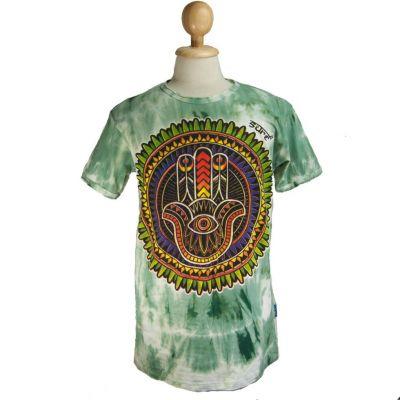 T-shirt Mano di Fatima Verde