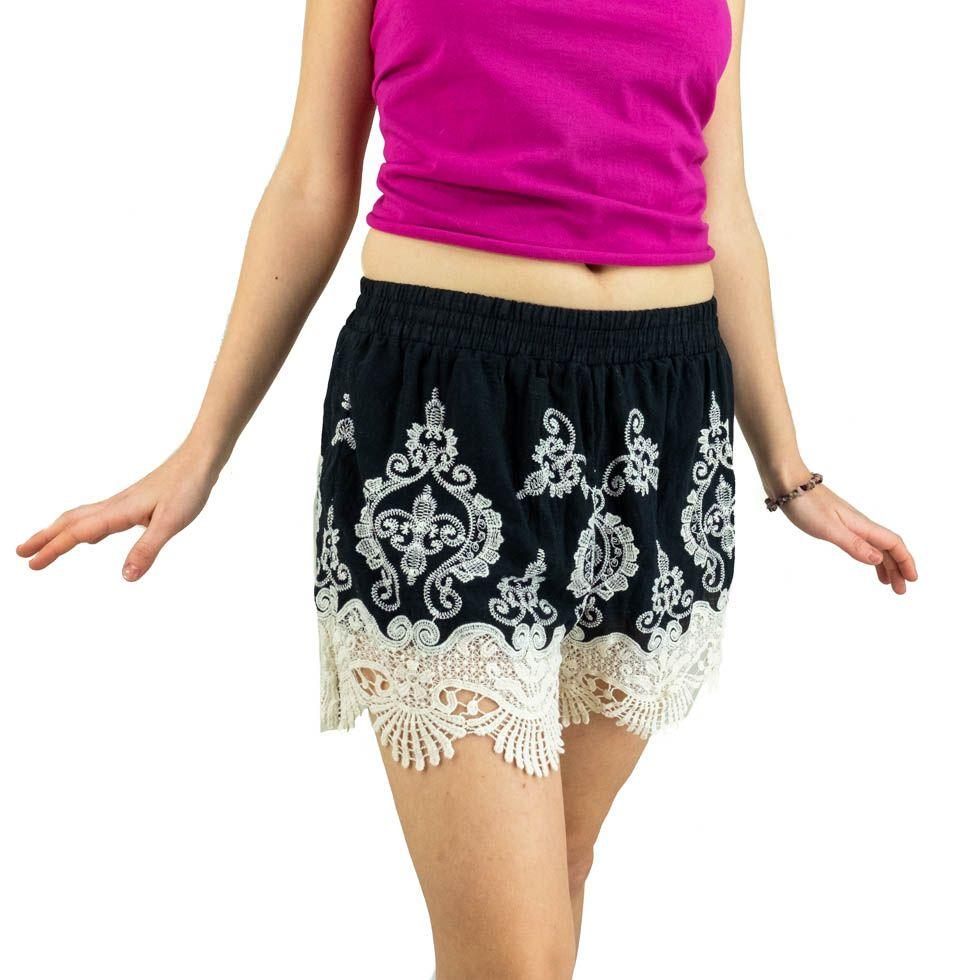 Pantaloncini di pizzo da donna Aom Hitam