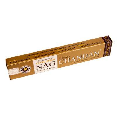 Incenso dorato Nag Masala Chandan   Confezione 15 g, Scatola da 12 pacchetti al prezzo di 10