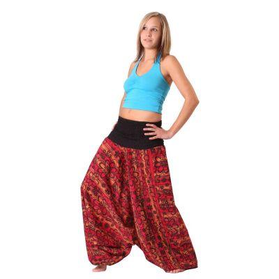 Pantaloni harem Bunga Merun