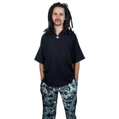 Kurta Lamon Black - camicia da uomo con maniche corte   M, L, XL, XXL, XXXL