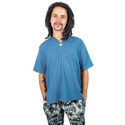 Kurta Lamon Blue - camicia da uomo con maniche corte   M, L, XL, XXL, XXXL