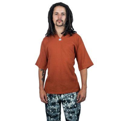 Kurta Lamon Orange- camicia da uomo a maniche corte   M, L, XL, XXL