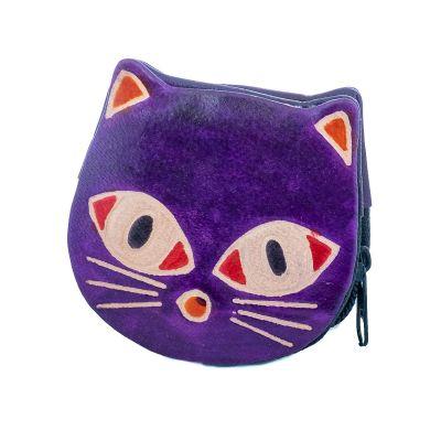 Portafoglio in pelle Kitty - viola