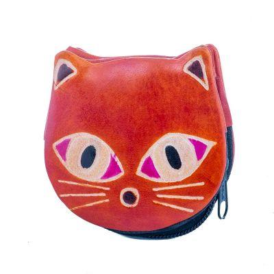 Portafoglio in pelle Kitty - arancione