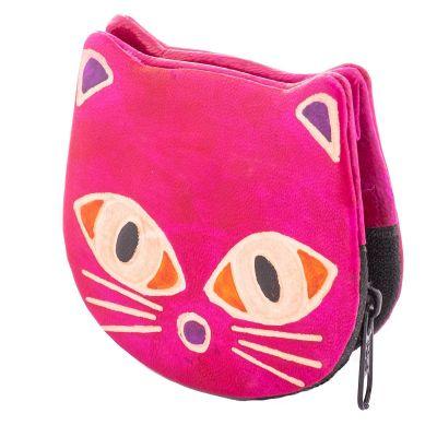 Portafoglio in pelle Kitty - rosa