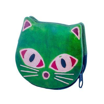 Portafoglio in pelle Kitty - verde