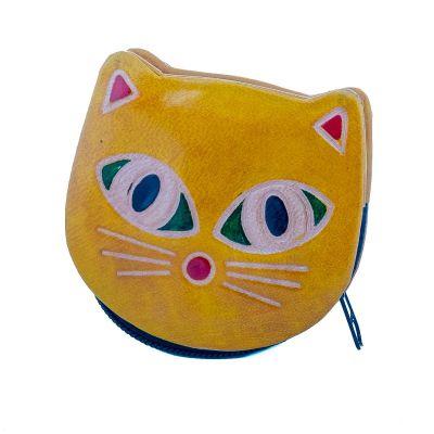 Portafoglio in pelle Kitty - giallo