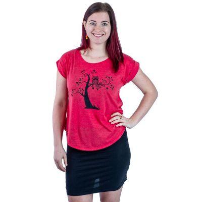 Maglietta Darika Solitary Owl Red