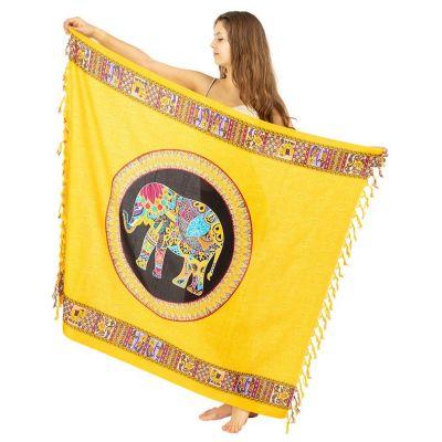 Elefante sarong giallo