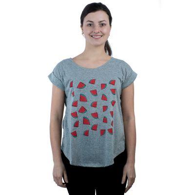 T-shirt Darika Angurie Grigia