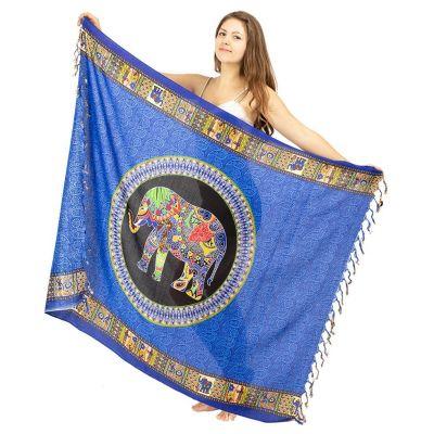 Sarong elefante blu