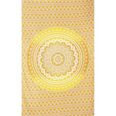 Copriletto Mandala - beige-giallo