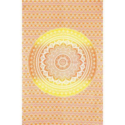 Copriletto Mandala - rosso-giallo