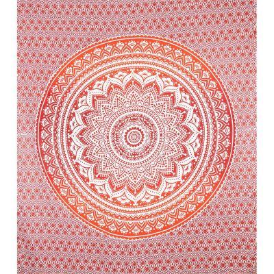 Copriletto Mandala - rosso