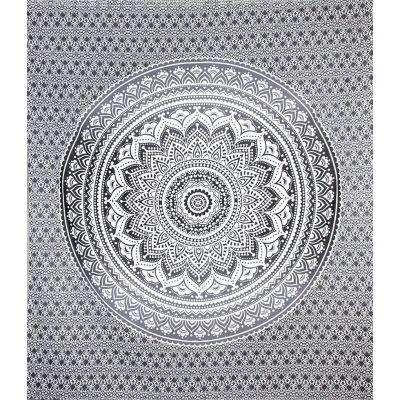 Copriletto Mandala - grigio