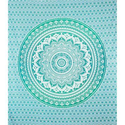 Copriletto Mandala - verde turchese