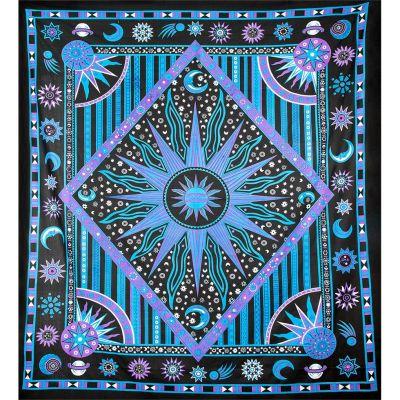 Copriletto Space - viola-blu
