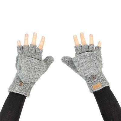 Guanti flip di lana Butwal Medium Grey