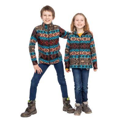 Giacca etnica per bambini Sanjona Biru | 2-4 anni, 4-6 anni, 6-8 anni, 8-10 anni, 10-12 anni