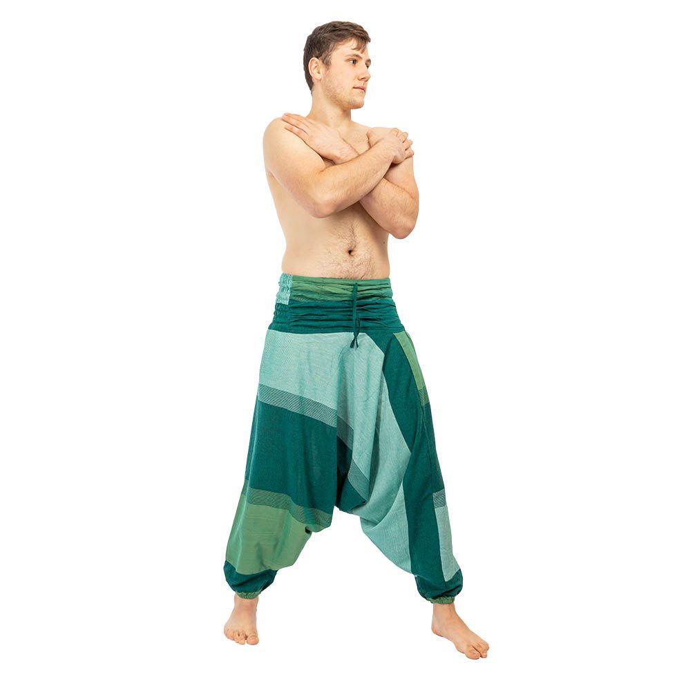 Pantaloni harem Telur Green Nepal
