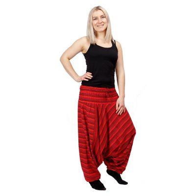 Pantaloni harem Garis Merun | UNI