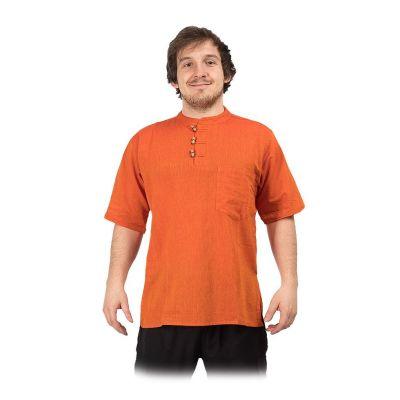 Kurta Pendek Jeruk - camicia da uomo con maniche corte | S, M, L, XL, XXL, XXXL