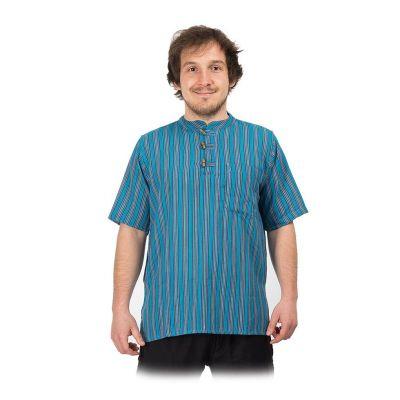 Kurta Pendek Pirus - camicia da uomo con maniche corte | S, M, L, XL, XXL, XXXL