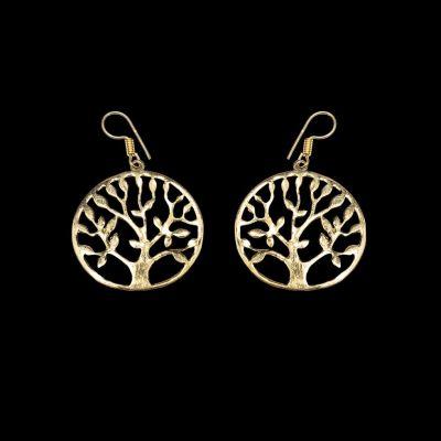 Orecchini in ottone Tree of Fortune 2