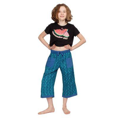 Pantaloni a tre quarti di cotone Peacock | 2-4 anni, 4-6 anni, 6-8 anni, 8-10 anni