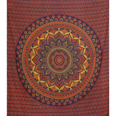 Copriletto in cotone Mandala di loto – grande