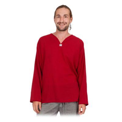 Kurta Abiral Burgundy - camicia da uomo con maniche lunghe   M, L, XL, XXL