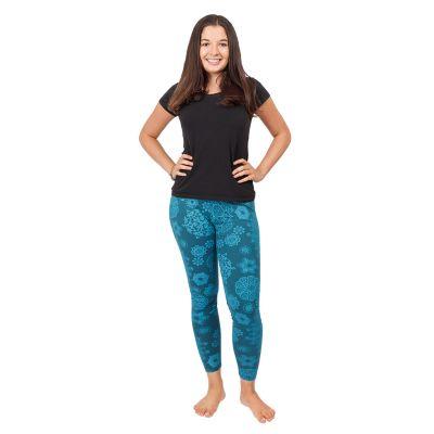 Leggings stampati Mandala Petrol Blue | S/M, L/XL