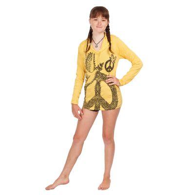 T-shirt con cappuccio da donna Sure Dove of Peace Yellow | S, M, L, XL